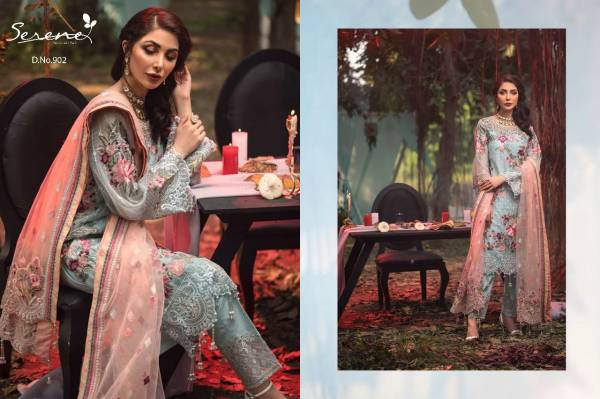 Serene Adan's Melody Series 901-905 Faux Georgette With Embroidery & Sequence Work New Designer Pakistani Suits Collection