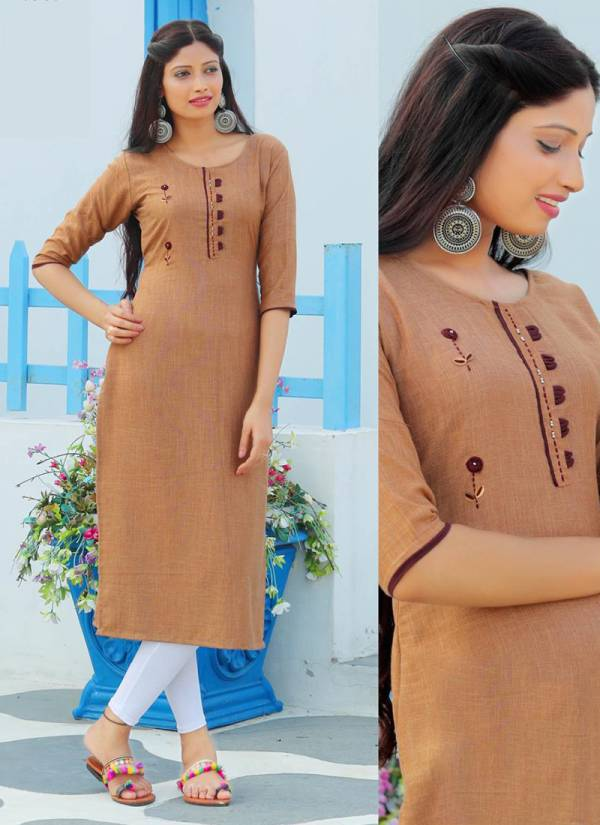 PK Fashion Casuals Vol 2 Series 2001PK-2006PK Rayon Weaved With Manual Work Office Wear New Fancy Kurtis Collection