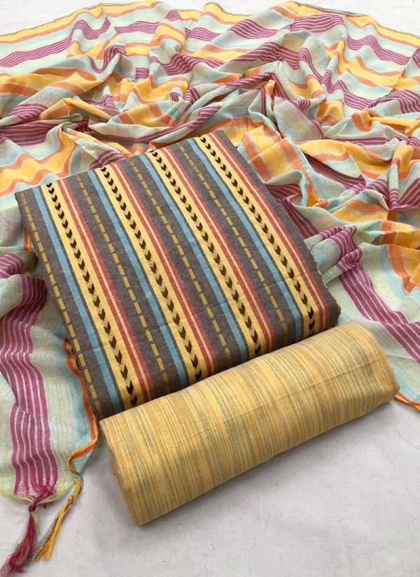 KVS launched LF4 Handloom Pure Cotton Designer Suits Dress Materiel Collection