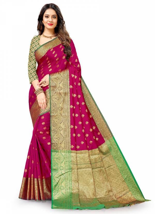 VRF Panihari Silk Lichi Silk With Rich Pallu Weaving Traditional Wear Sarees Collection