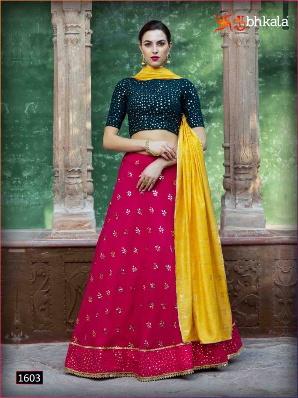 Shubhkala Bridesmaid Vol 10 Georgette With Fancy Sequences Work Party Wear Lehenga Cholis Collection
