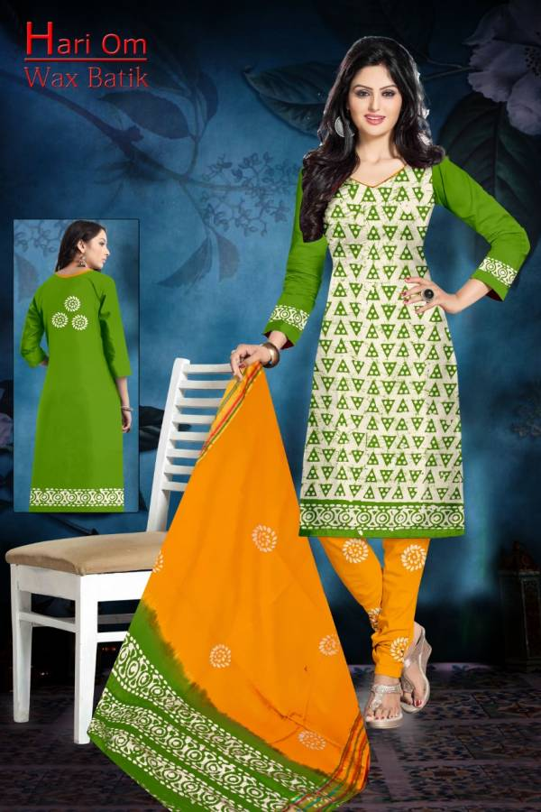 Hari Om Wax Batik Cotton Batik Stylish Printed Salwar Suit Collection
