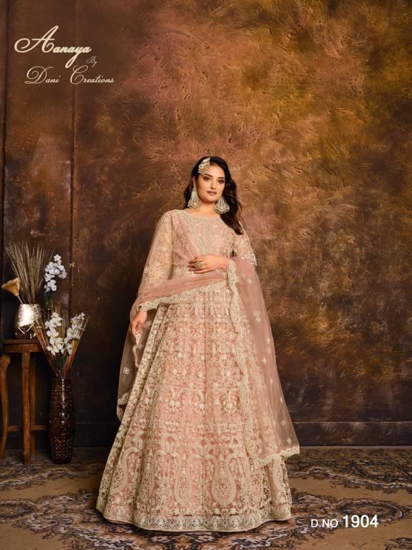Dani Fashion Aanaya Vol 119 Heavy Net Abaya Style Salwar Suits Eid Collection