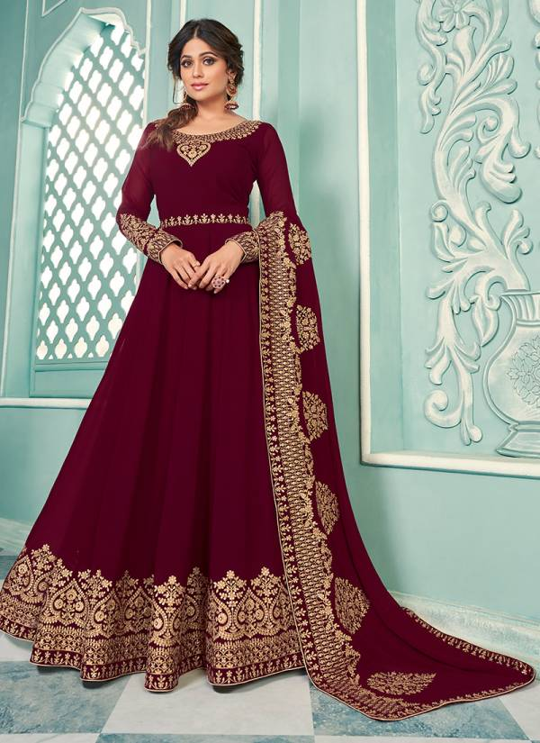 Aashirwad Samaira Real Georgette With Embroidery Work  Anarkali Suits Collection