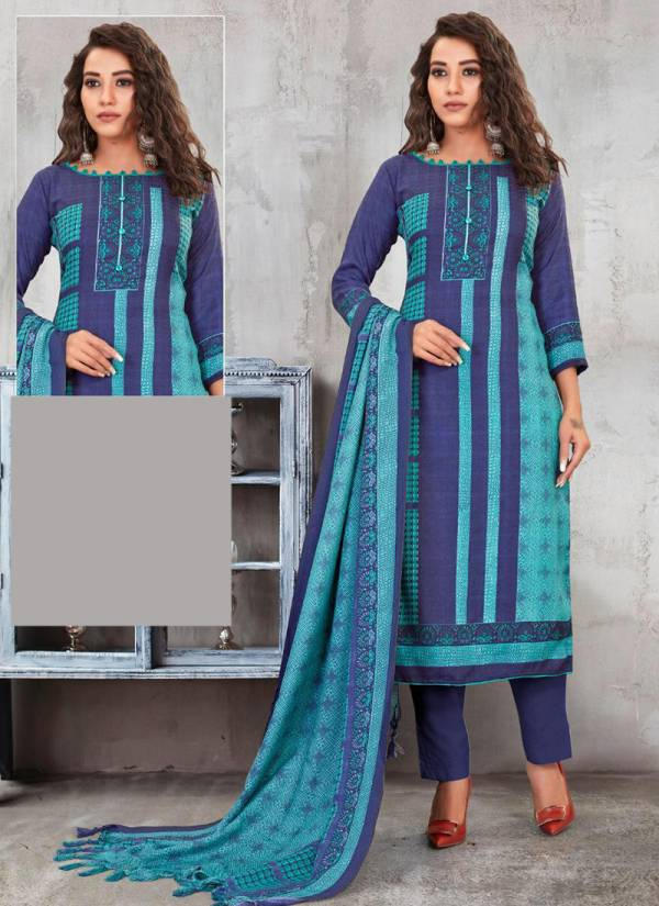 Bipson Preeto Series 1214A-1214D Exclusive Latest Designer Pure Pashmina Print Special Winter Season Suits Collection