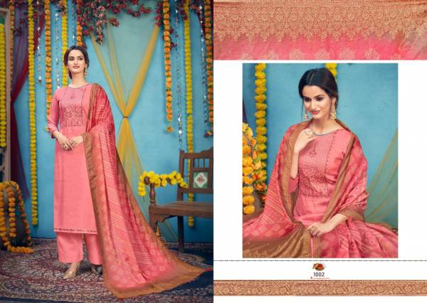 Nishant Fashion Bandhej Soft Silk Self Designer Embroidery Work Palazzo Suits Collection