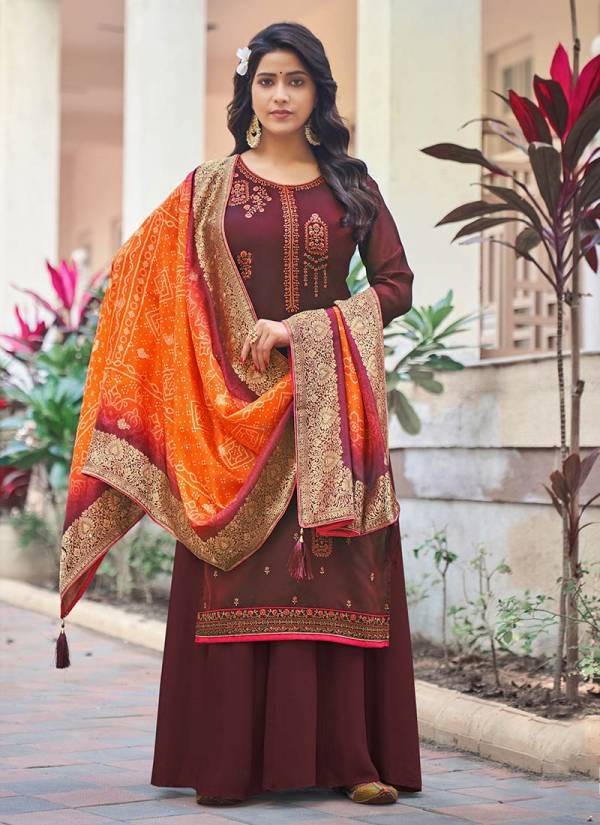 Lavina Vol 130 Pure Silk With Embroidery Work Festival Wear Palazzo Suits Collection