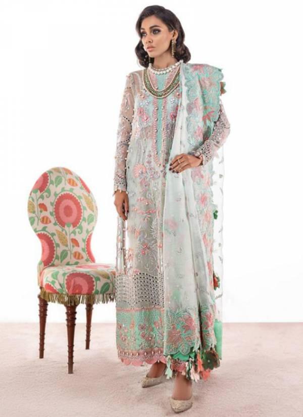 Rawayat Elan Vol -3 Series 11007- 11011 Faux Georgette Butterfly Net Embroidery Work Party Wear Designer Salwar Suit Collections