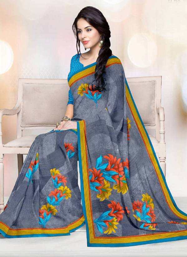 DeepTex Prints Priyamani Voil Series KR1001-KR1020 Satin Cotton New Fancy Printed Daily Wear Sarees Collection