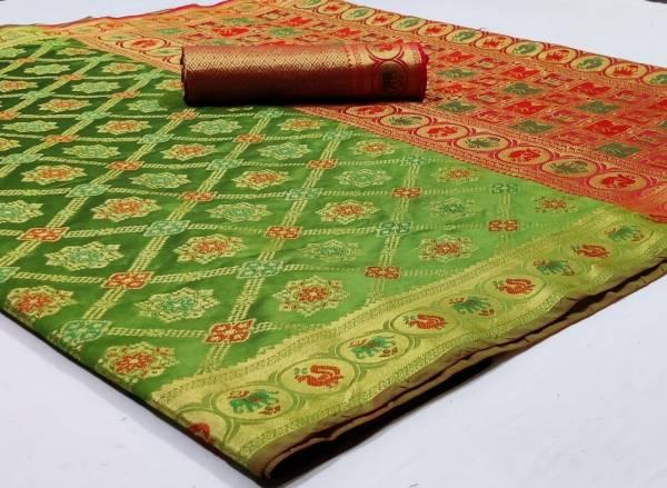 Nakshatra Fashion Studio Soft Banarasi Silk Fancy Embroidery Work Reception Wear Designer Sarees Collection