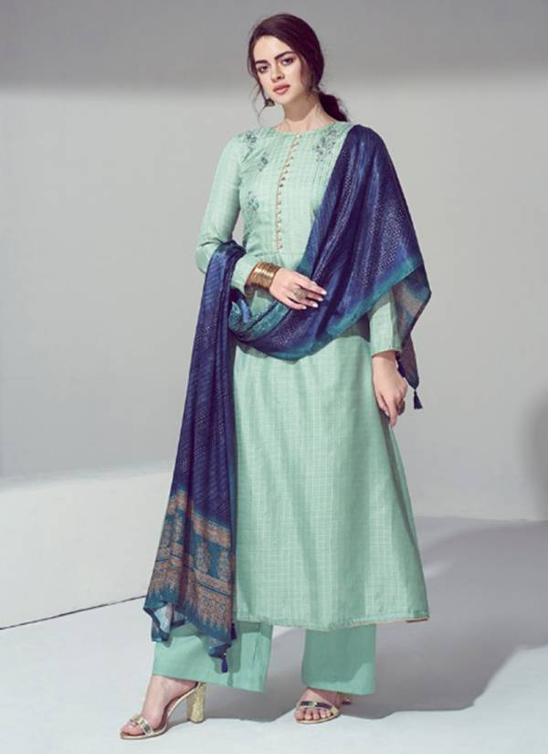 winter Series 2001-2007 Pure Pashmina With Heavy Self embroidery Work With Stylish Print Suits collection