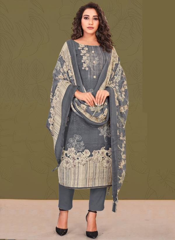 Bipson Preeto Series 1198A-1198D Special Pure Pashmina Digital Style Print Winter Season Suits Collection