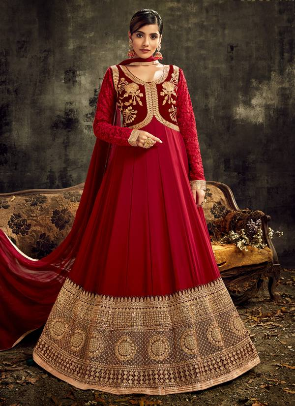Hotlady Sareena Series 7721-7725 Georgette,Silk & Net With Fancy Embroidery & Swarovski Diamond Work Festival Wear Anarkali Suits Collection