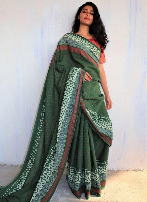 Varni Fabric Classic Look Chanderi Cotton Regular Sarees Collection