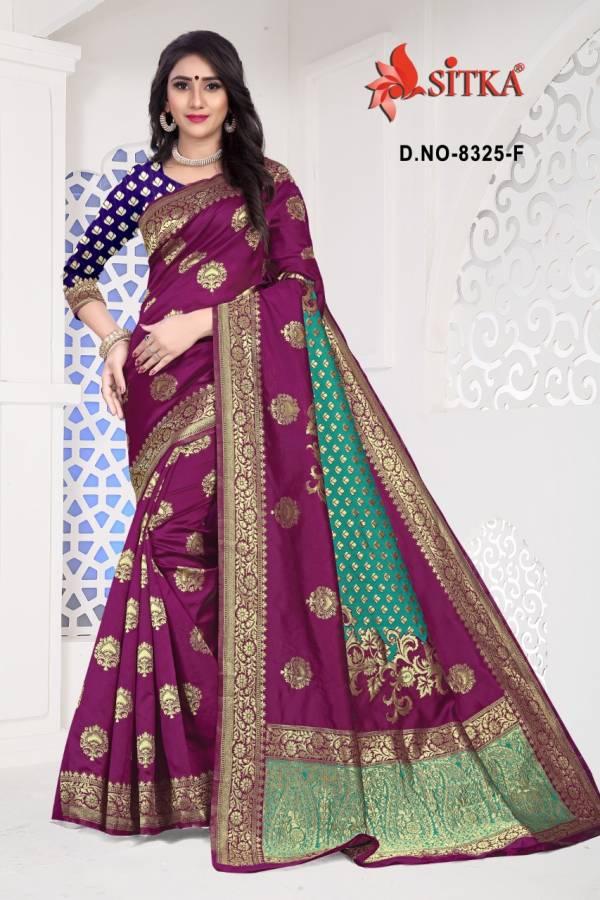 Kodas Sanyog Series 8325A-8325F Handloom Cotton Weaving Silk Fancy Traditional Wear Sarees Collection