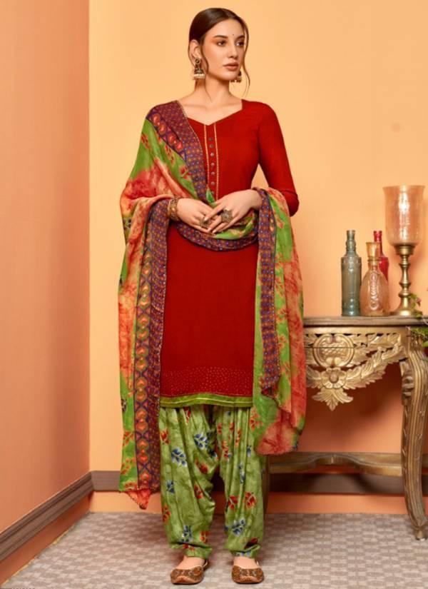 Sweety Fashion Cola Vol -2 Rayon Slub With swarovski Regular Wear Punjab Patiyala Salwar Suit Collections