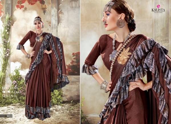 Kalista Fashion Hello Fancy Imported Party Wear Sarees Collection
