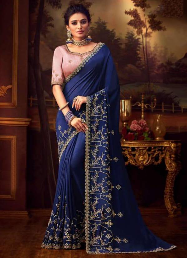 Vritika Sneh Vol 10 Series 80034-80043 New Fancy Vichitra Silk With Stylish Work Sarees Collection