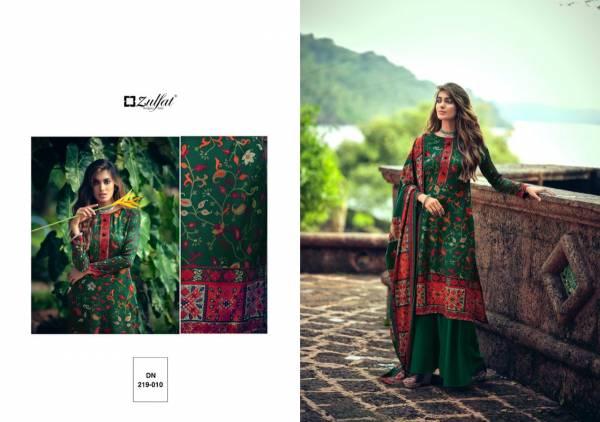 Zulfat Designer Suits Winter Fantasy Series 219-001 - 219-012 Latest Designer Pure Pashmina Digital Style Print Salwar Suits Collection