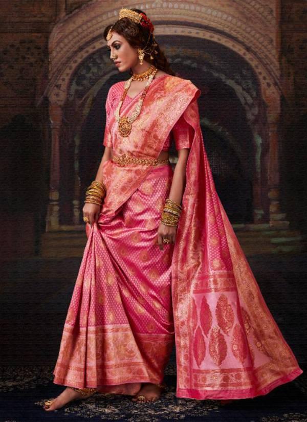 Monjolika Fashion Maharani Silk Series 3301-3305 Latest Designer Banarasi Silk Exclusive Traditional wear Sarees Collection