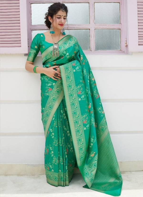 Manjubaa Premium Collection Series 4025-4029 New Designer Silk Wedding & Festival Wear Sarees Collection