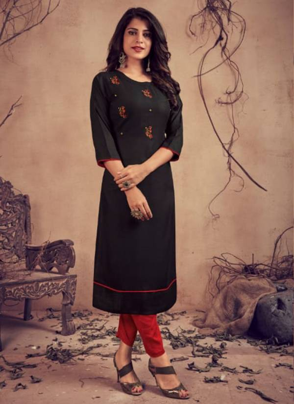 Lilly Mariya Series 1028-1033 Pure Rayon With Heavy Embroidery Work Kurtis With Pants Collection