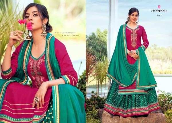 Rangoon Apsara Vol 3 Jam Silk With Embroidery Work Readymade Lehenga Suits Collection