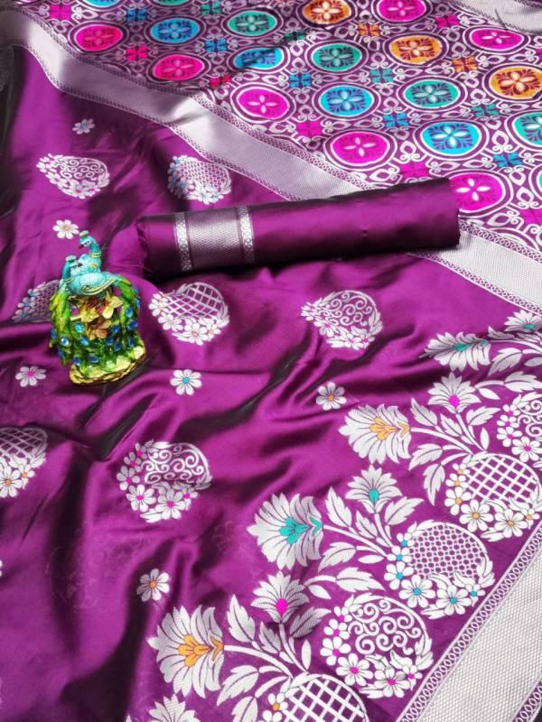 Shiv Enterprise Google Lichi Silk With Weaving Border Designer Sarees Collection