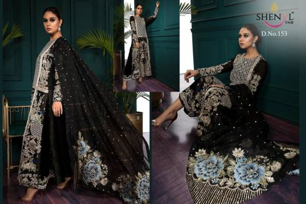 Shenyl Fab Karan Impex Shenyl Hits Vol 2 Series 153-158 Faux Georgette With Heavy Embroidery & Diamond Work Wedding Wear Pakistani Suits Collection
