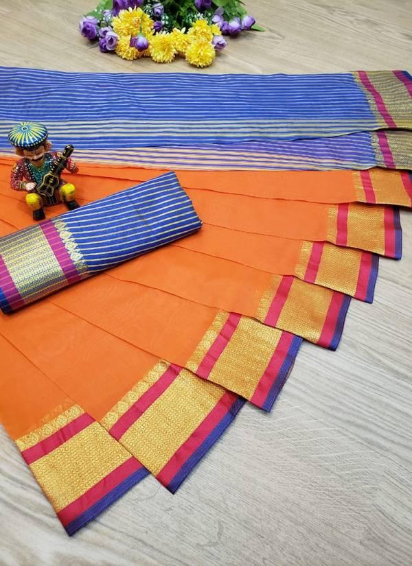 Shiv Saree Series BJS1-BJS4 Banarasi Jacquard Silk New Fancy Wear & Traditional Look Cotton Silk Base Sarees Collection