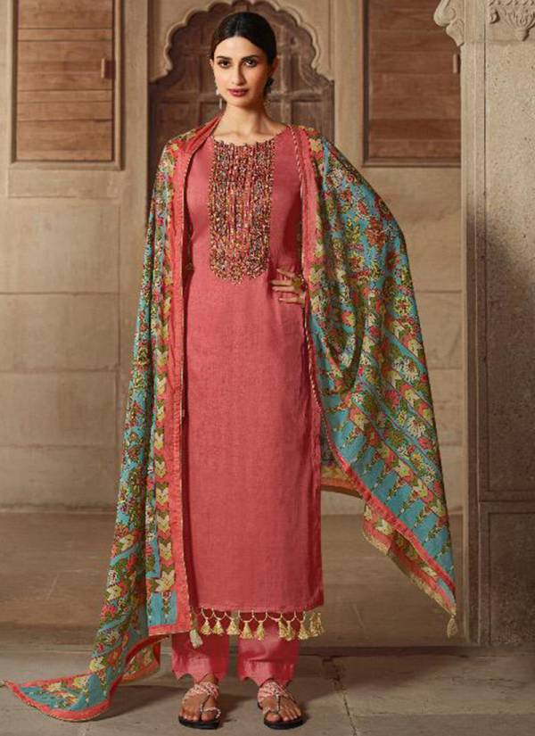 Lt Fabric Noreen Series 1001-1008 Jam Cotton Printed Festival Wear Embroidery Work Designer Salwar Suit Collections