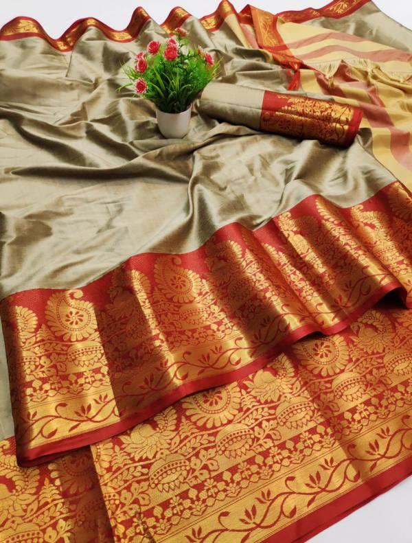 Varni Fabric Jaal Cotton Silk Regular Wear Sarees Collection