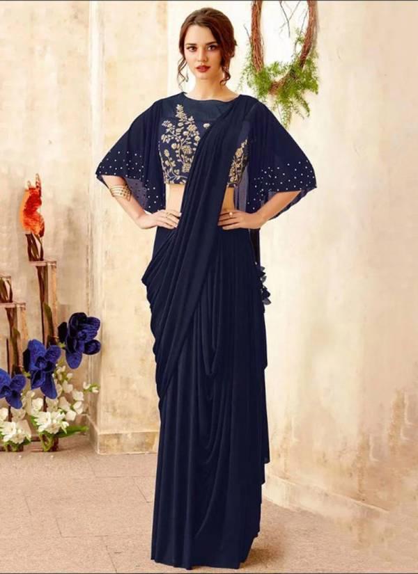 Nakshatra Fashion Studio Premium Showroom Quality Silk With Embroidery Work Wedding Wear Designer Sarees Collection