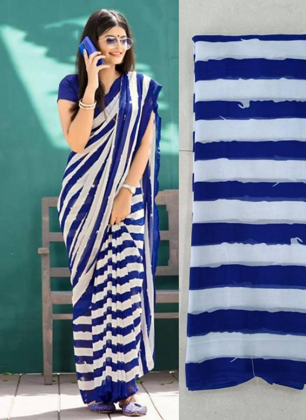 Ruhi Fashion Rainbow Soft Georgette  Light Weight Sarees Collection