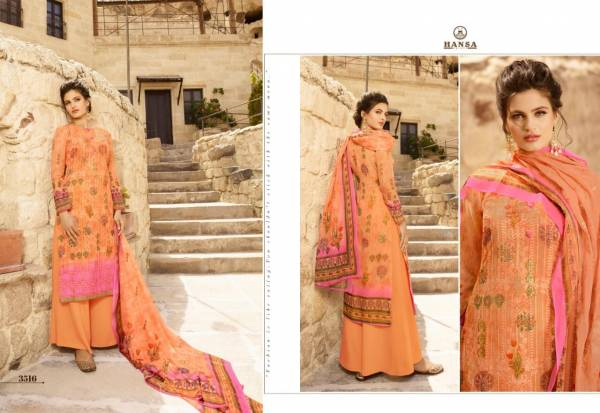 Hansa Husna Ara Georgette  Digital Printed  Palazzo Suits Collection