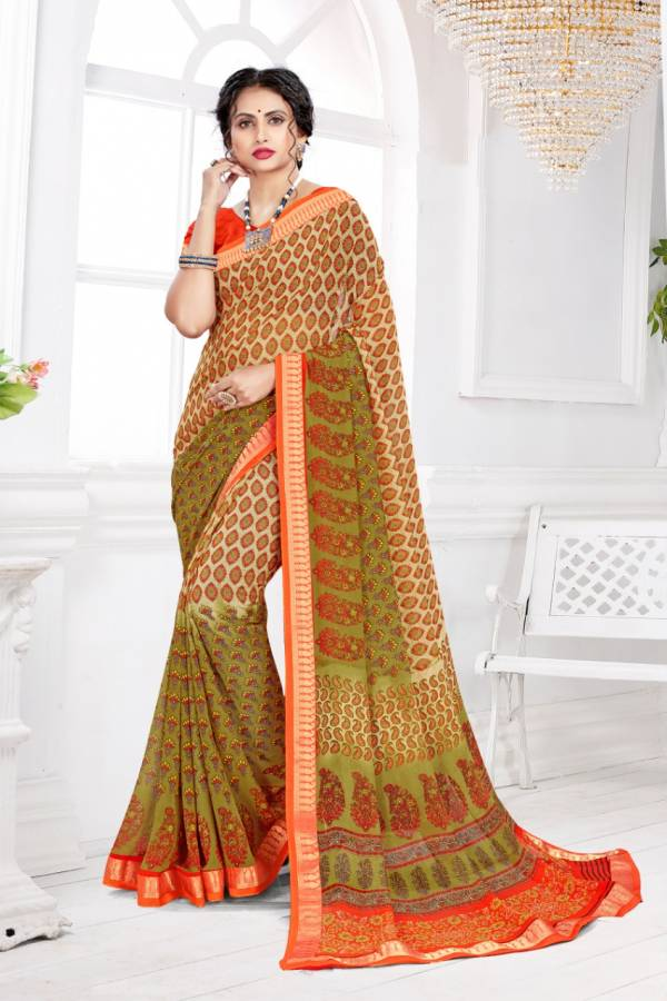 Sangam Infotech Vatika Series 1001-1008 Georgette With Fancy Printed Daily Wear Sarees Collection