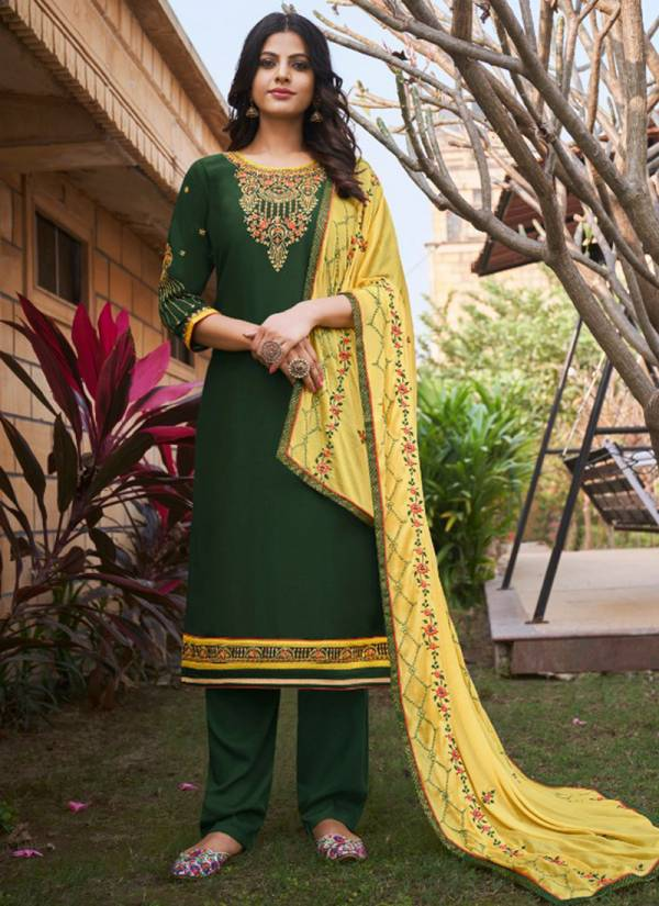 Four Dots Sangam Vol 2 Series 0181-0184 Parampara Silk Embroidery Work Straight Party Wear Suits Collection