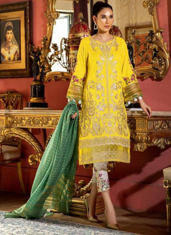 Kilruba Naye Rang Pure Cambric Cotton With Heavy Embroidery Work Festival Wear Designer Pakistani Suits Collection