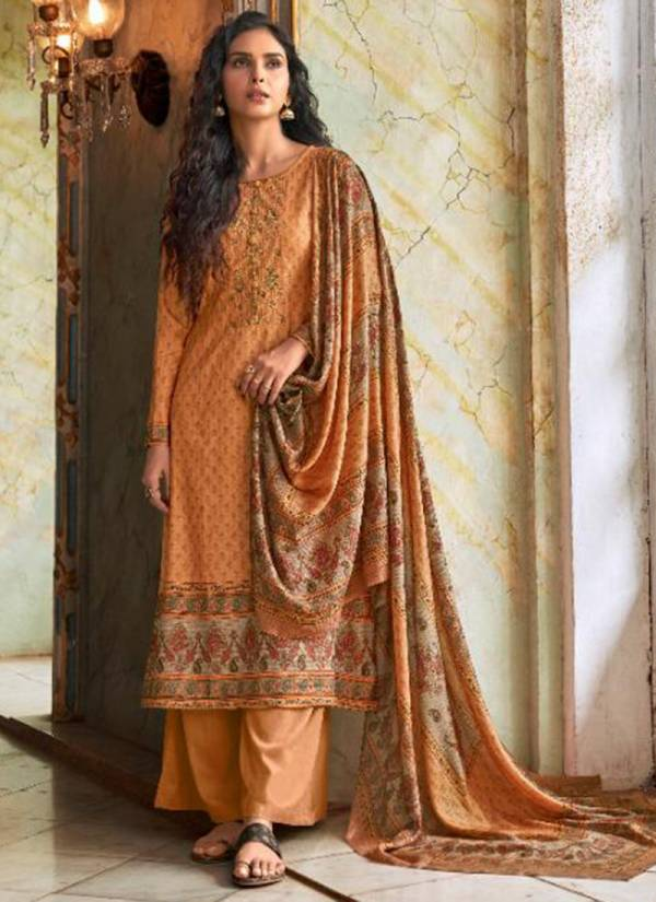 Kalki Fashion Vastrangna Series C-341 - C-348 Pure Pashmina Designer Digital Print With Fancy Embroidery Work Winter Suits Collection