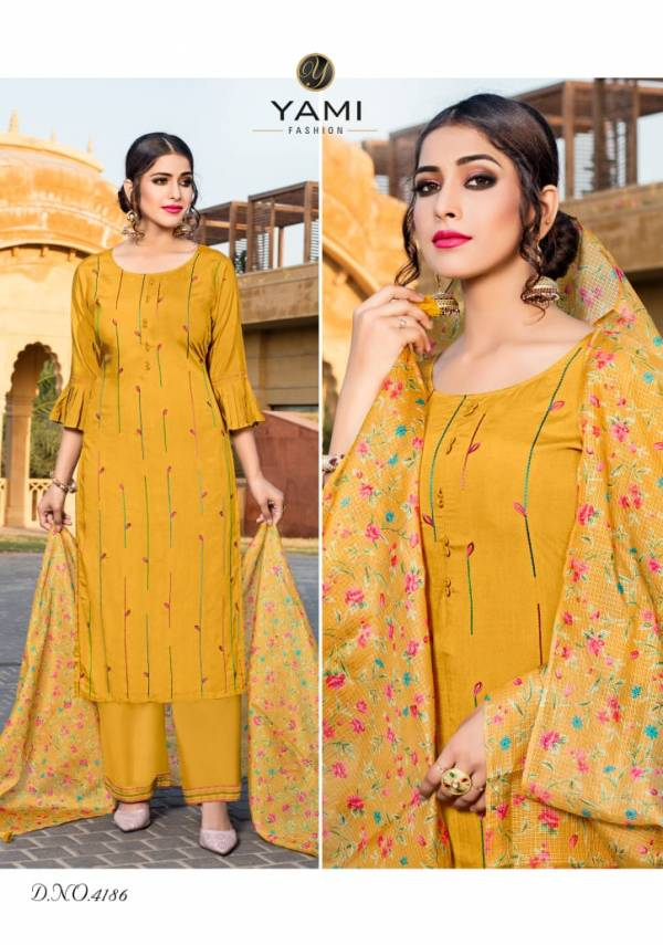 Yami Fashion Ruhaani Pure Viscose With Exclusive Multi Work Readymade Salwar Suits Collection
