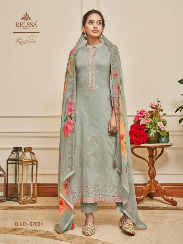 Relssa Radhika Lawn Cotton With Embroidery Work Salwar Suits Collection