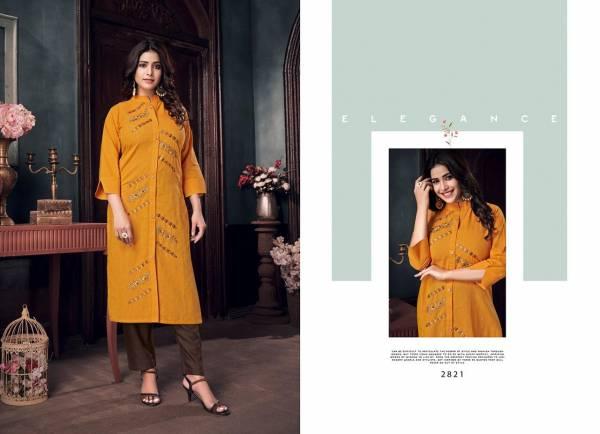 Rangoon Maria Pure Cotton Work Fancy Kurtis With Pants Collection
