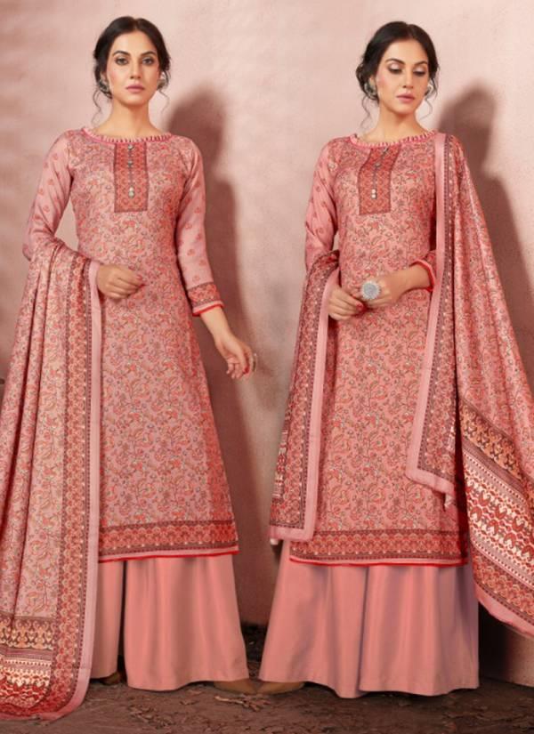Bipson Silk Series 1120-1123 Woollen Pashmina Digital Print Office & Daily Wear Winter Season Suits Collection