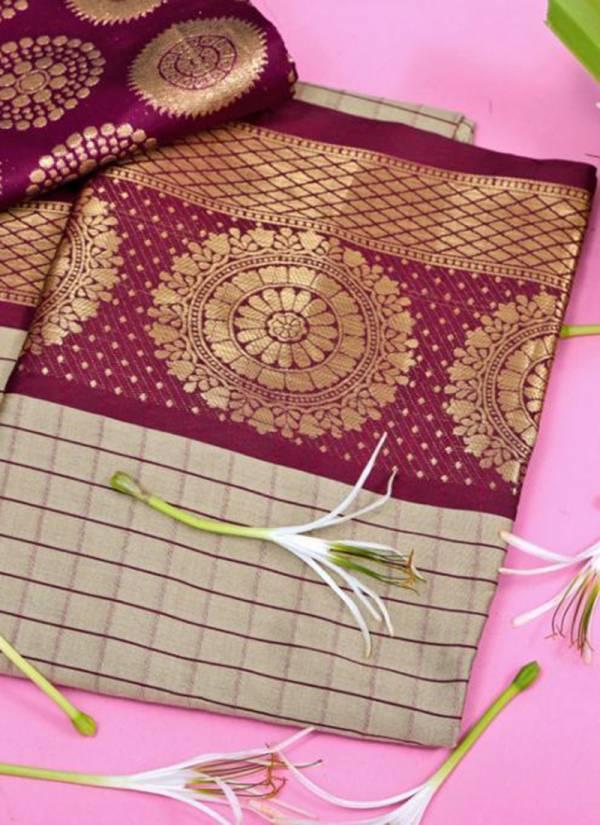 Redolance Shravya Checks Series 1-6 Cotton Silk South Indian Style Traditional Wear Sarees Collection