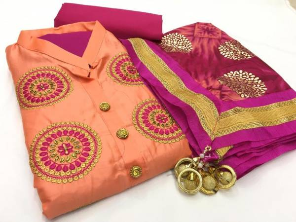 Designer Suits Series 8051-8058 Satin Glace Cotton With Stylish Embroidery Work Festival Wear Suits Collection