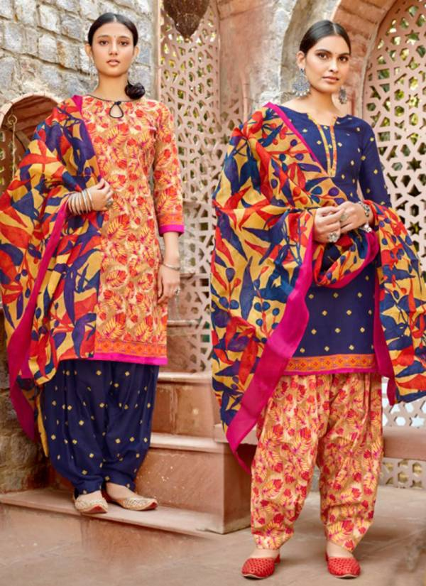 Sweety Fashion Non Stop Vol 45 Soft Cotton Fancy Patiyala Suits Collection