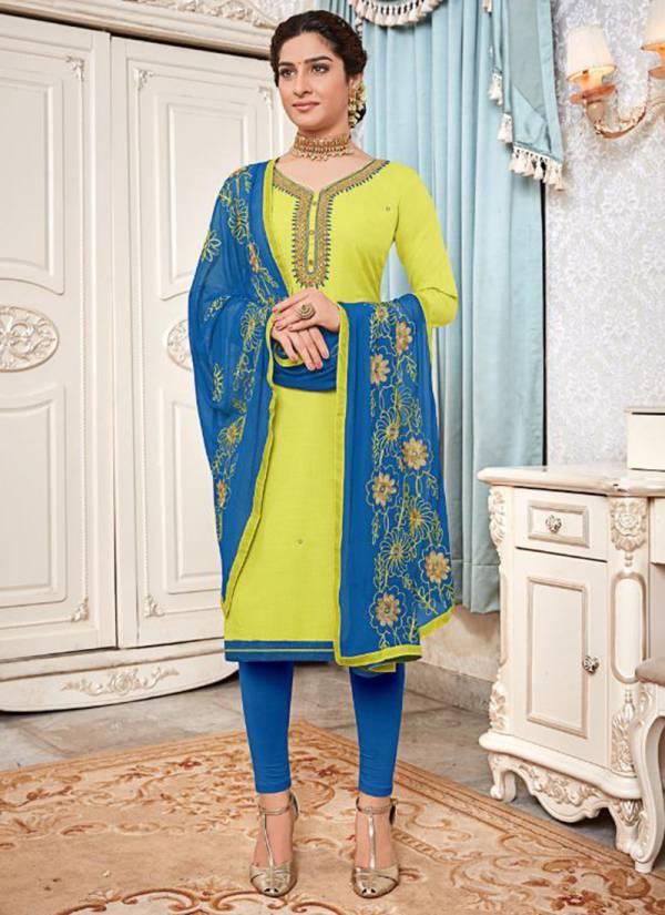 Amrut varsha Creation Surbhi Series 1001AVC-1006AVC Heavy Cotton Slub Hand Work Stylish Look Party Wear Suits Collection