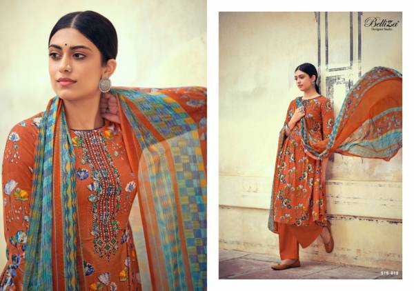 Belliza Designer Mystic Pure Rayon Digital Style Print With Fancy Embroidery Work Wedding Wear Designer Palazzo Suits Collection