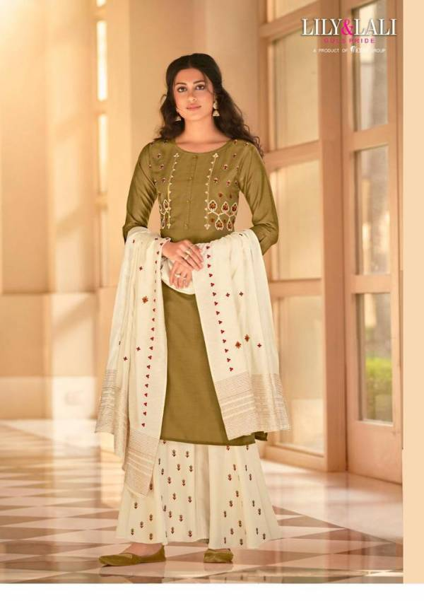 Lily & Lali Riwaaz Heavy Bemberg Silk With Hand Work Readymade Salwar Suits Collection