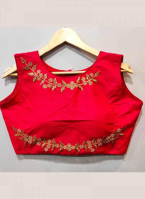 Ruhi Designer 266-01 To 266-08 Moti Work Phantom Silk Latest Designer Party Wear Readymade Blouses Collection